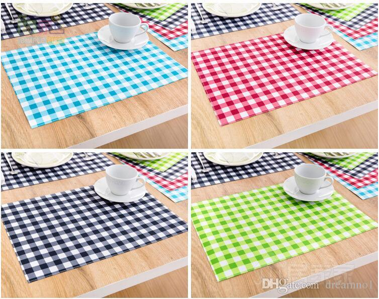 Deconovo PVC Placemats Woven Vinyl Washable Table Mats Table Mats Heat-resistant Placemats for Babies