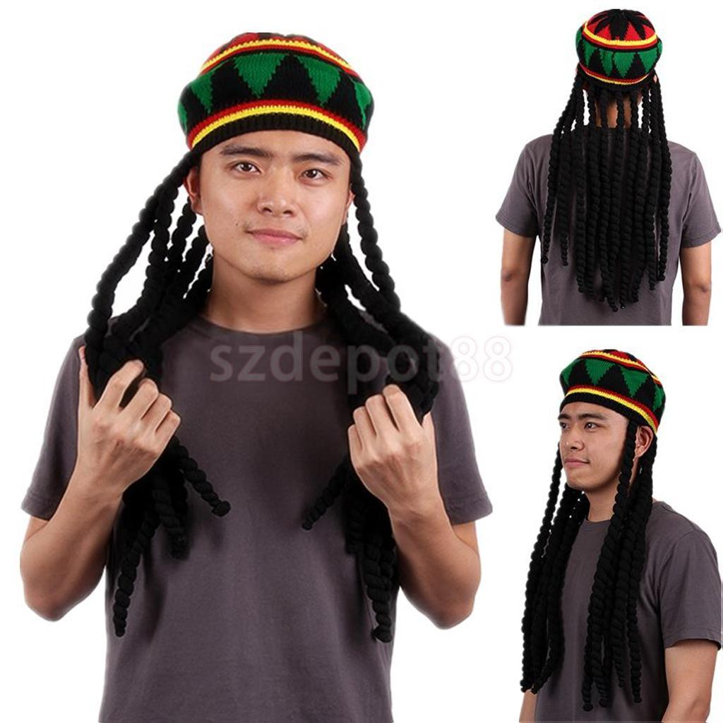 Compre Al Por Mayor Bob Marley Reggae Jamaican Rasta Hat Dreadlock Peluca  Caribe Boina Cap Dress A  17.86 Del Value333  12ecc897dca