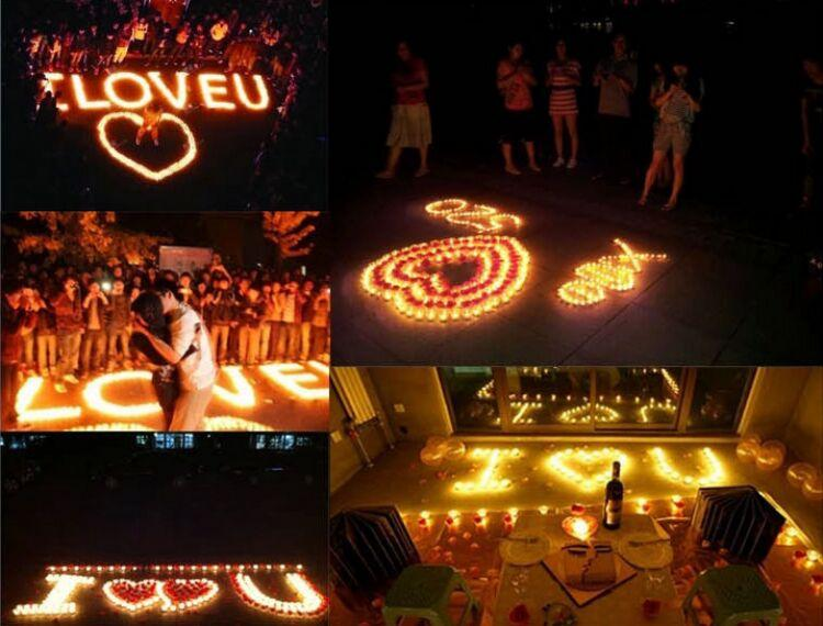 LED Waterproof candle lights Party Decoration Candle Wedding Party High Quality Indoor Lighting for fish tank pond blessing