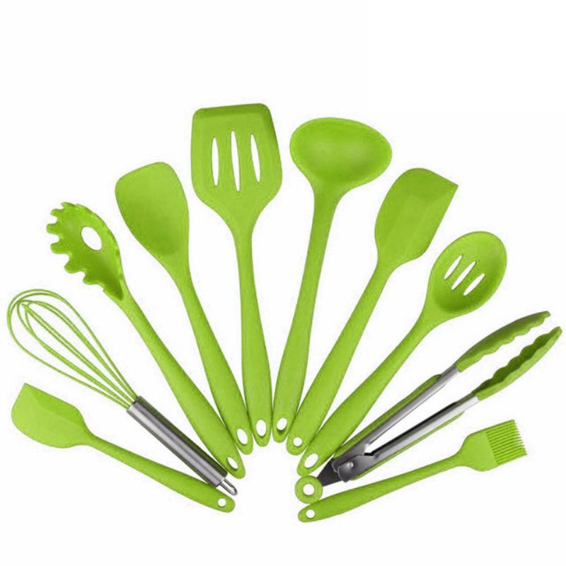 Acquista Nuovo Design Utensili Da Cucina Silicone Resistente Al ...