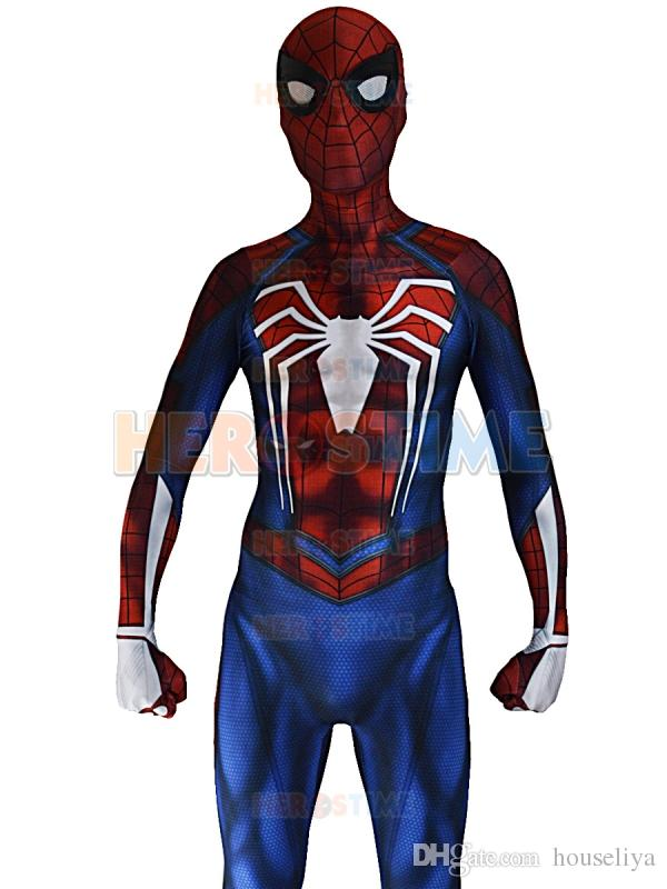 Compre Disomniac Spider Man Costume PS4 Insomniac Games Disfraz De Spiderman  3D Print Licra Spandex Zentai Spiderman Bodysuit A  70.66 Del Houseliya ... b5871163cd07