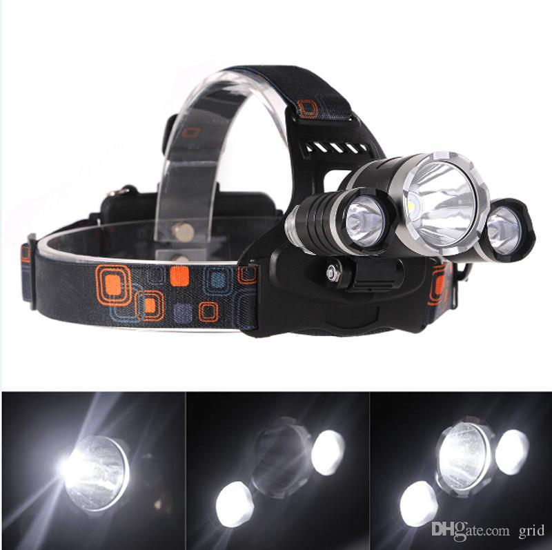 Hot sale Outdoor 5000LM 3 x XM-L L2 LED Headlight Headlamp Hiking FISHING CAMPING Head Torch Flashlight USB Lamp