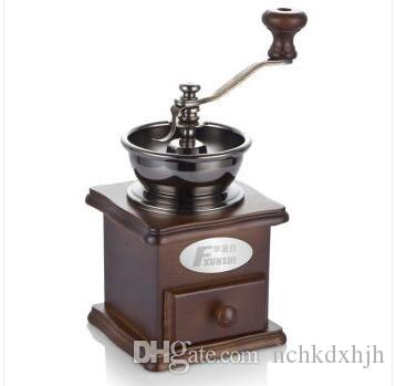 chinaguangdong Fxunshi MD-802 household coffee maker machine hand coffee wooden vintage mill manual coffee bean cafe grinder