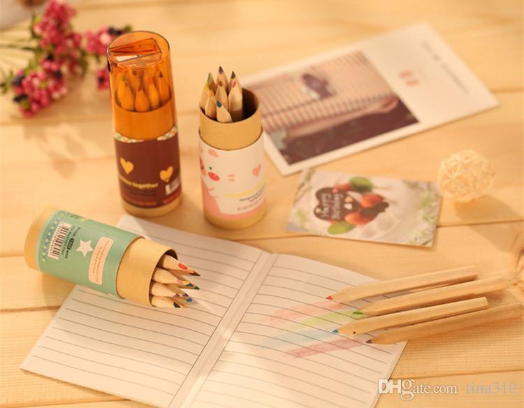 Secret Garden Coloring Pencils Verzauberte Waldmalerei-Stifte Farbstifte Kreative Schreibwerkzeuge 12 Farben Coloring Pencils IB280
