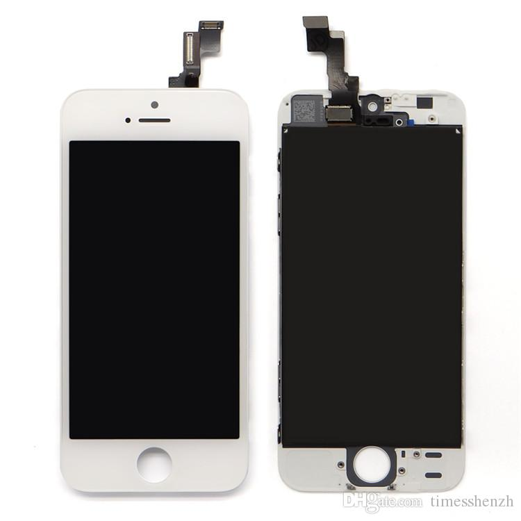 AAA+++ Quality LCD Display+Touch Screen Digitizer Assembly Replacement for iPhone 5 5C 5S DHL