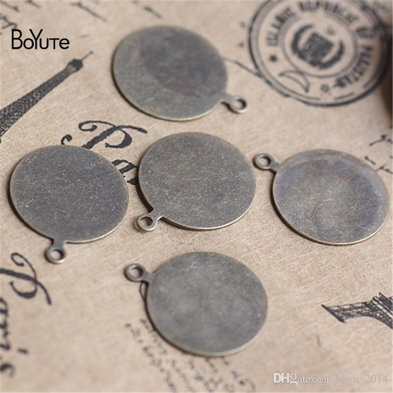 BoYuTe Round 8-10-15MM Hot sale Cameo Cabochon Base Setting Diy Pendant Accessories Blank for Jewelry Making