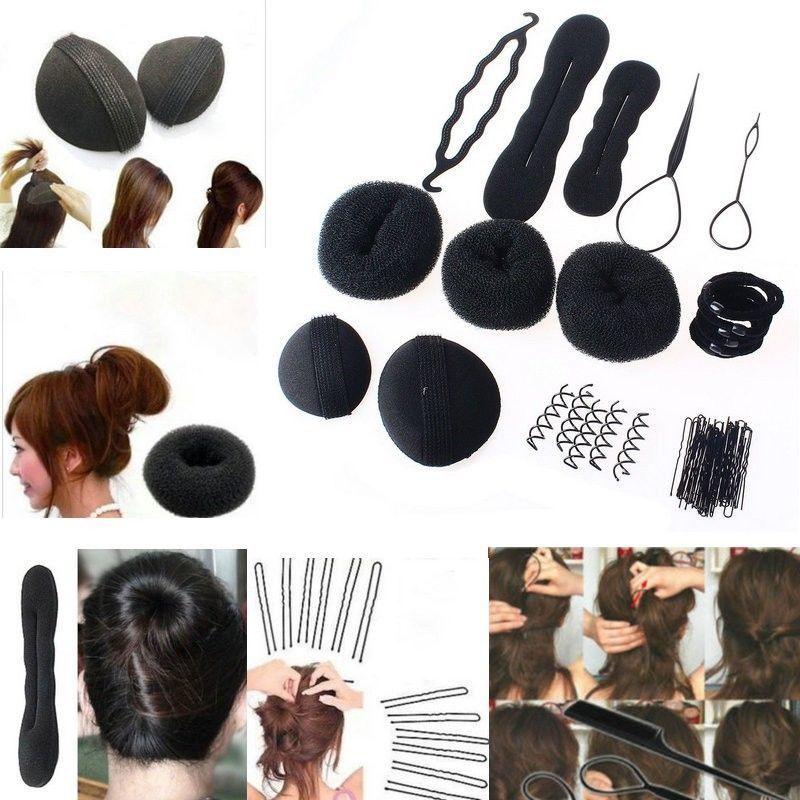 MLJY Hairdressing DIY Аксессуары для волос Sponge Disk Hair Увеличенная палка для волос Pin Clip Rubber Band Профессиональные инструменты Braid Style