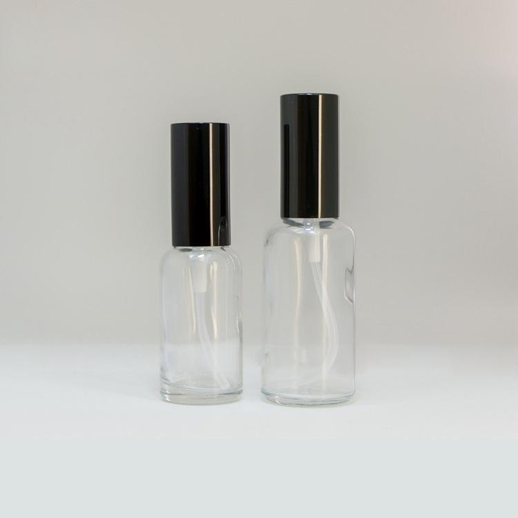 10 ml 15 ml 30 ml 50 ml 100 ml botellas de spray de vidrio transparente con rociador de niebla fina negro para aceites esenciales, perfume, nebulización aromaterapia