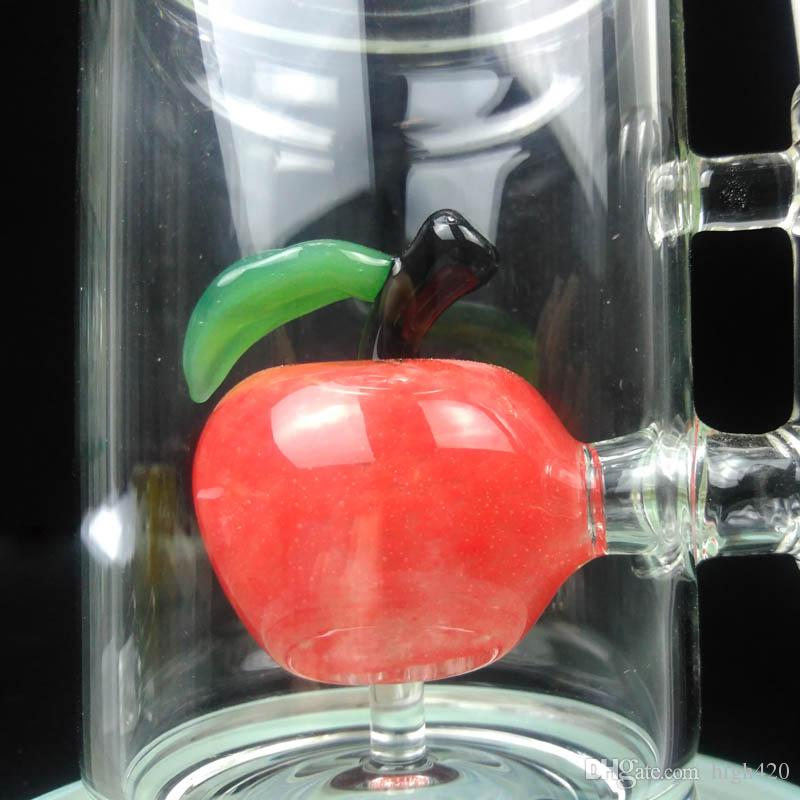 11 '' Bong Vetro migliore qualità Bong Tubature dell'acqua Oil Rig 18,8 millimetri Maschio comune di Apple Bubbler Bong Acqua