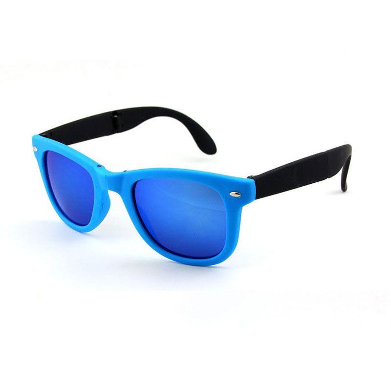 54e9b19435e Personality Folding Sunglasses Pilot Vintage Classic Glasses Fashion  Sunglasses For Women Men Metal Glasses Retro Frame With Box Factory Who  Folding ...
