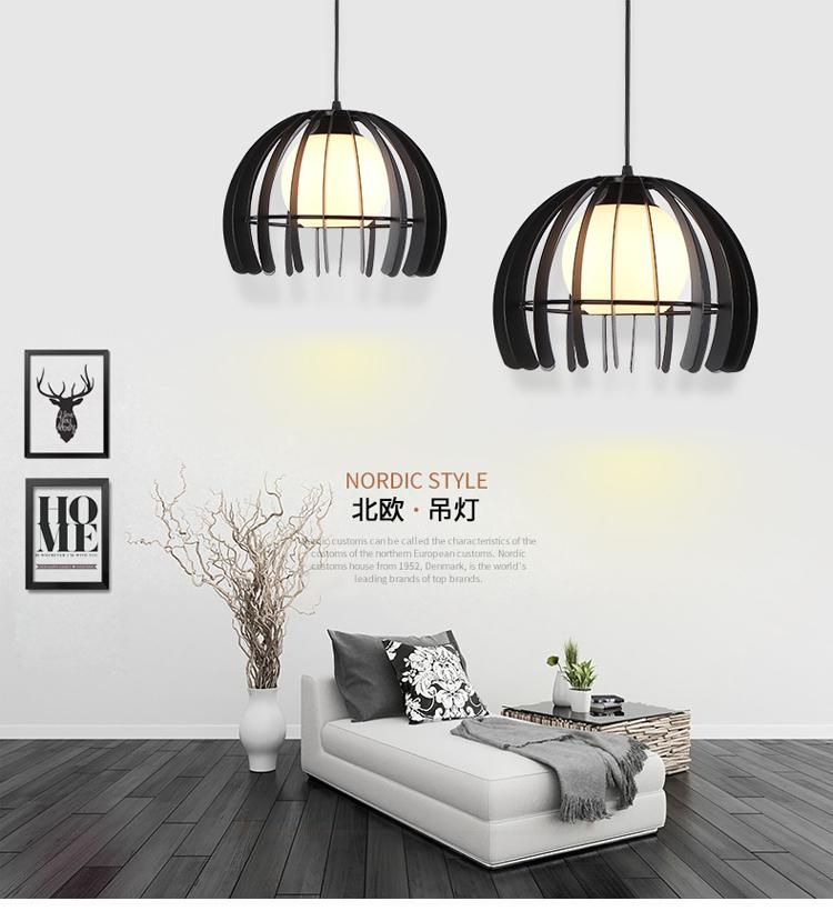 Hot sell Indoor decorative modern pendant lamp E27 nordic simple Iron lamp dining room bar counter coffee house decorate commercial lighting