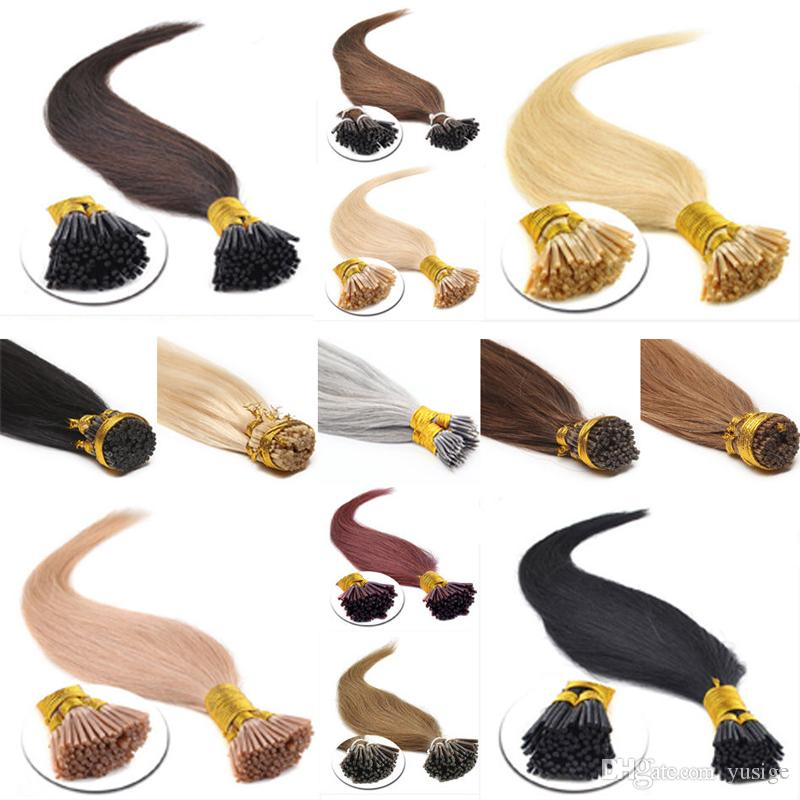 Pre Bonded Keratin Stick I Tip Hair Extensions 1g Pcs 300g Full Head Indian Remy Human Various Color Available Fusion