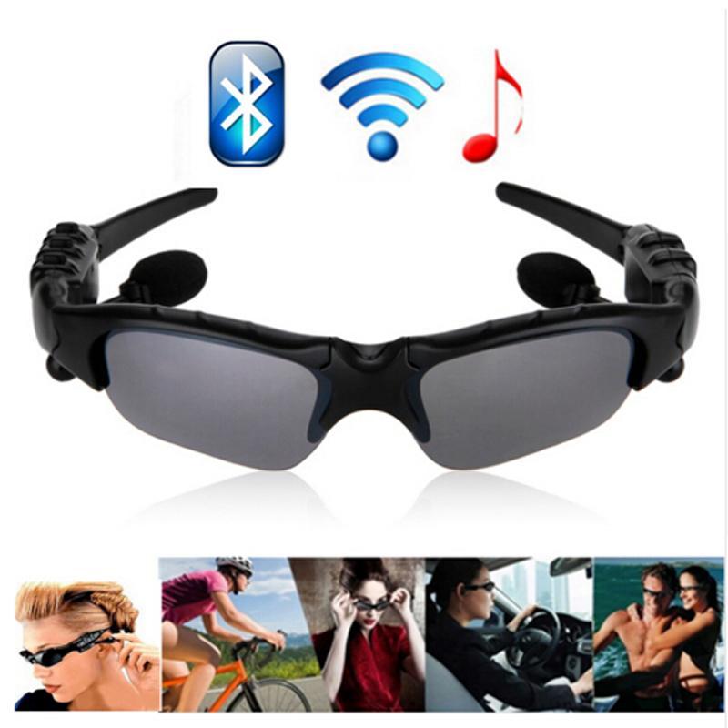 Compre Alta Qualidade Bluetooth 4.0 Óculos Inteligentes Com Fones De Ouvido  Esporte Fone De Ouvido Polarizada Condução Óculos De Sol Olhos Para Iphone  6 5 7 ... ad0053ea85
