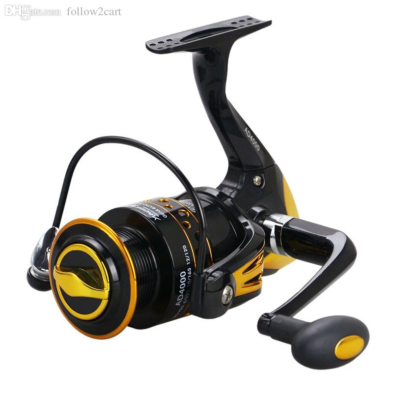 2017 Top Quality Front Drag Spinning Fishing Reel 13BB Gear Ratio 5.2:1 Boat Superior Metal Fishing Reel Spool System 8000 9000