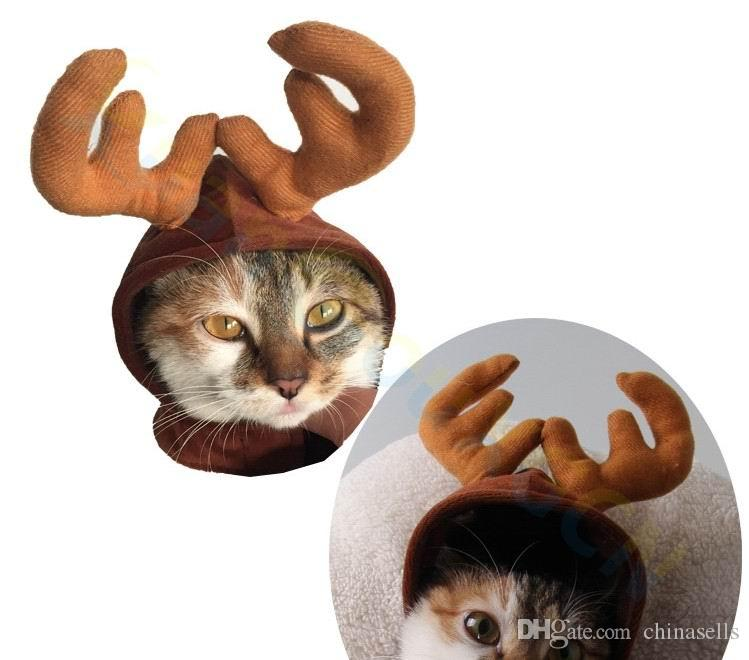 cool design cute Xmas elk Christmas party gift puppy costume cap Headdress dog cat Santa Claus hat Ornaments pet Accessories