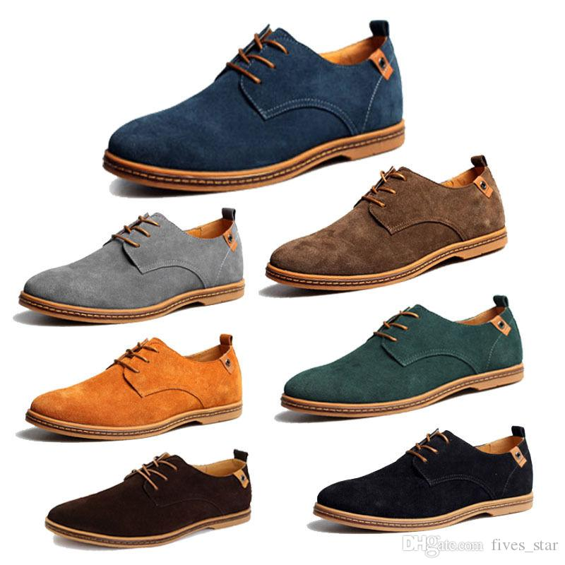 Mens Casual Shoes Dress Formal Oxfords Shoes Wing Tip Suede ...