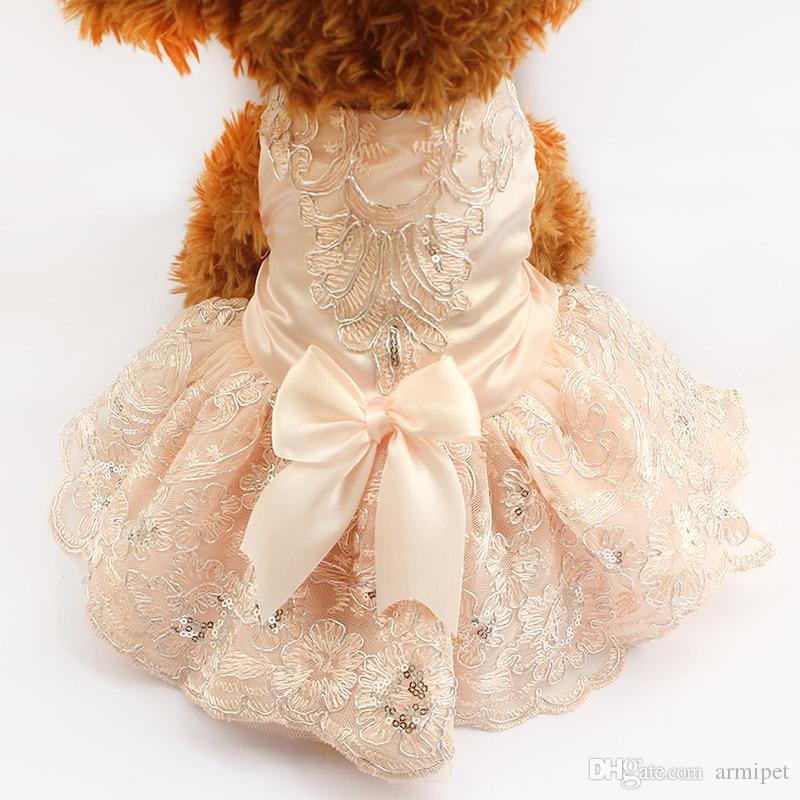 Armipet Sequins Lace Embroidered Dog Dress Princess