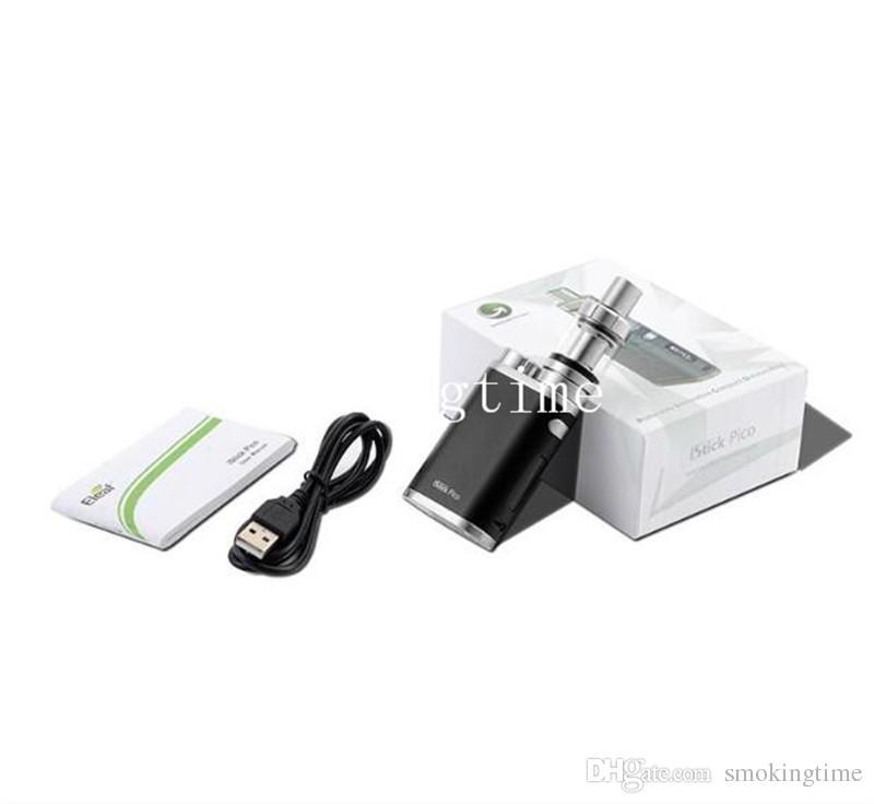 Factoryprice Pico 75W Starter Kit Temperature Control TC VW Bypass Mod Melo 3 III Mini Atomizer Vapor Mods Vape pen e cigs