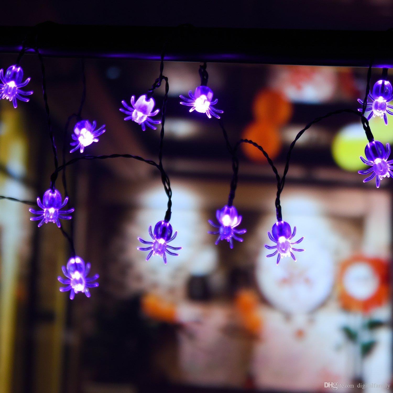 Halloween Christmas Solar 5m LED Pumpkin String Light ghosts spiders skeletons bats LED string light for Home Party Decor