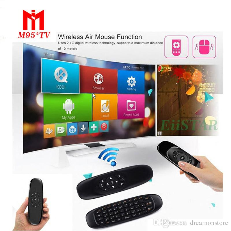 Fly Air Mouse Gyro Mini Wireless QWERTY Keyboard Remote Control C120 For  Android Smart TV Box Mini PC Motion Sensing Game Controller Q2 MXQ