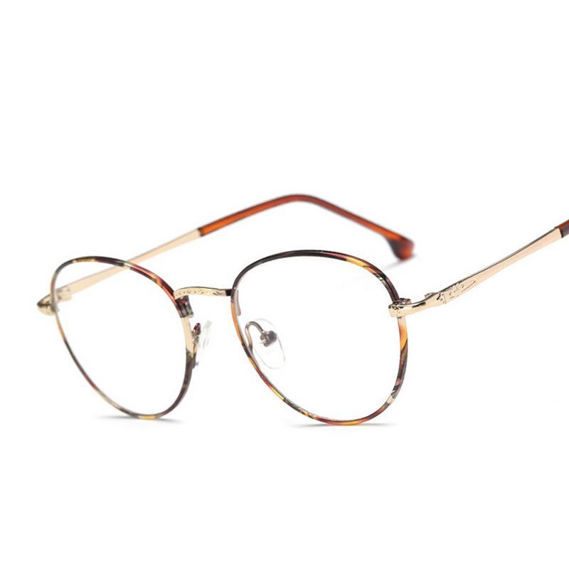 Wholesale- Newest Women Oval Eyeglass Brand Designer Frames Print ...
