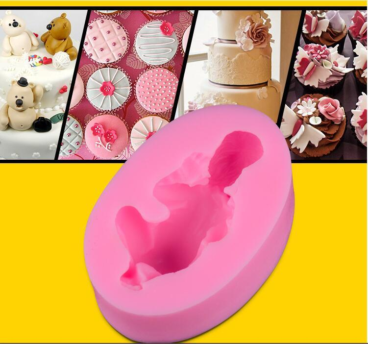 Новый Дизайн Fondant Diy Силиконовые Формы Три 3D Спящего Ребенка Шоколадные Формы Силиконовые Формы для Украшения Торта Торт Инструменты Образец