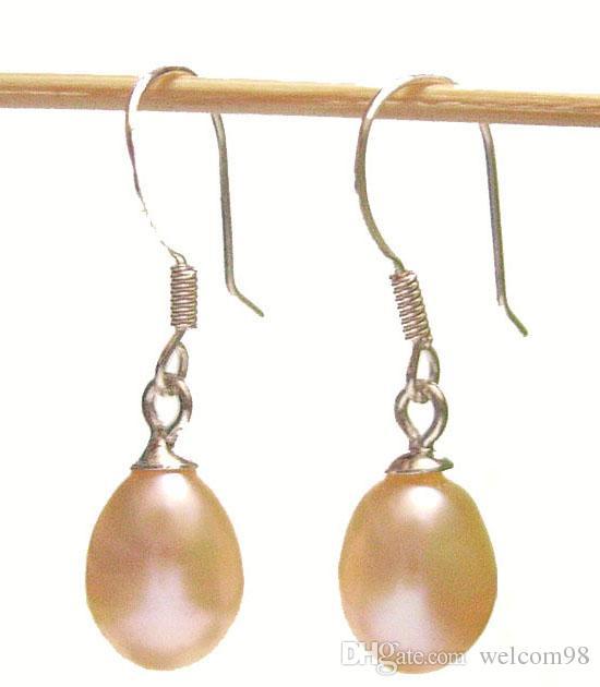 Gancio d'argento degli orecchini della perla dei gioielli di modo / i monili del mestiere del regalo Rosa C03 * trasporto libero