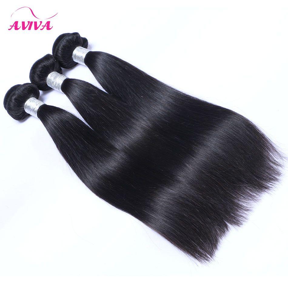 3 Adet Bakire Çin Saç İpeksi Düz Çin Remy İnsan Saç Dokuma Paketler Doğal Siyah Çin Saç Uzantıları Arapsaçı Ücretsiz