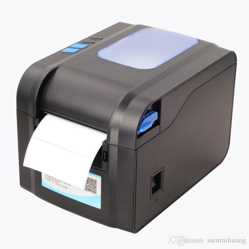80mm directly thermal barcode label printer sticker printing machine usb interface newest support more language xp 370b portable printer portable printer