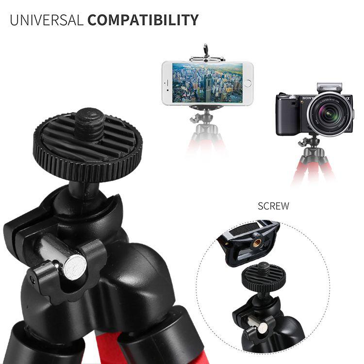 유연한 낙지 삼각대 전화 홀더 유니버설 스탠드 브라켓 휴대 전화 자동차 카메라 Selfie Monopod 블루투스 원격 셔터