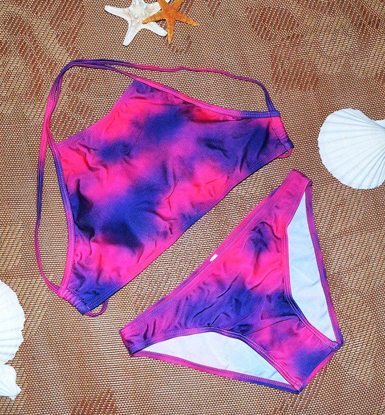 reizvoller Zigeunerblumenschwimmen-Badeanzug-Strandabnutzung biquini Frau plus Größenbadebekleidungfrauenbandeau-Badeanzug brasilianischer Bikini