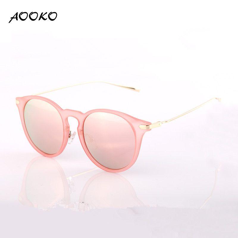9f59a0810d1 AOOKO AK7876 Fashion Cat Eye Sunglasses Women Brand Designer Sun Glasses  For Ladies Uv400 Vintage Oculos Cateye Mirror Colorful Lens Female  Polarized ...