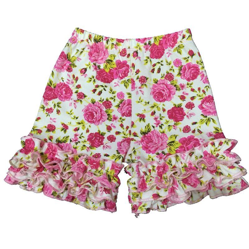 2017ベビーガールフリルショーツショーツ幼児子供夏のショーツ女の子明るい楽しい夏の色フリルのアイシングパンツ底の子供服