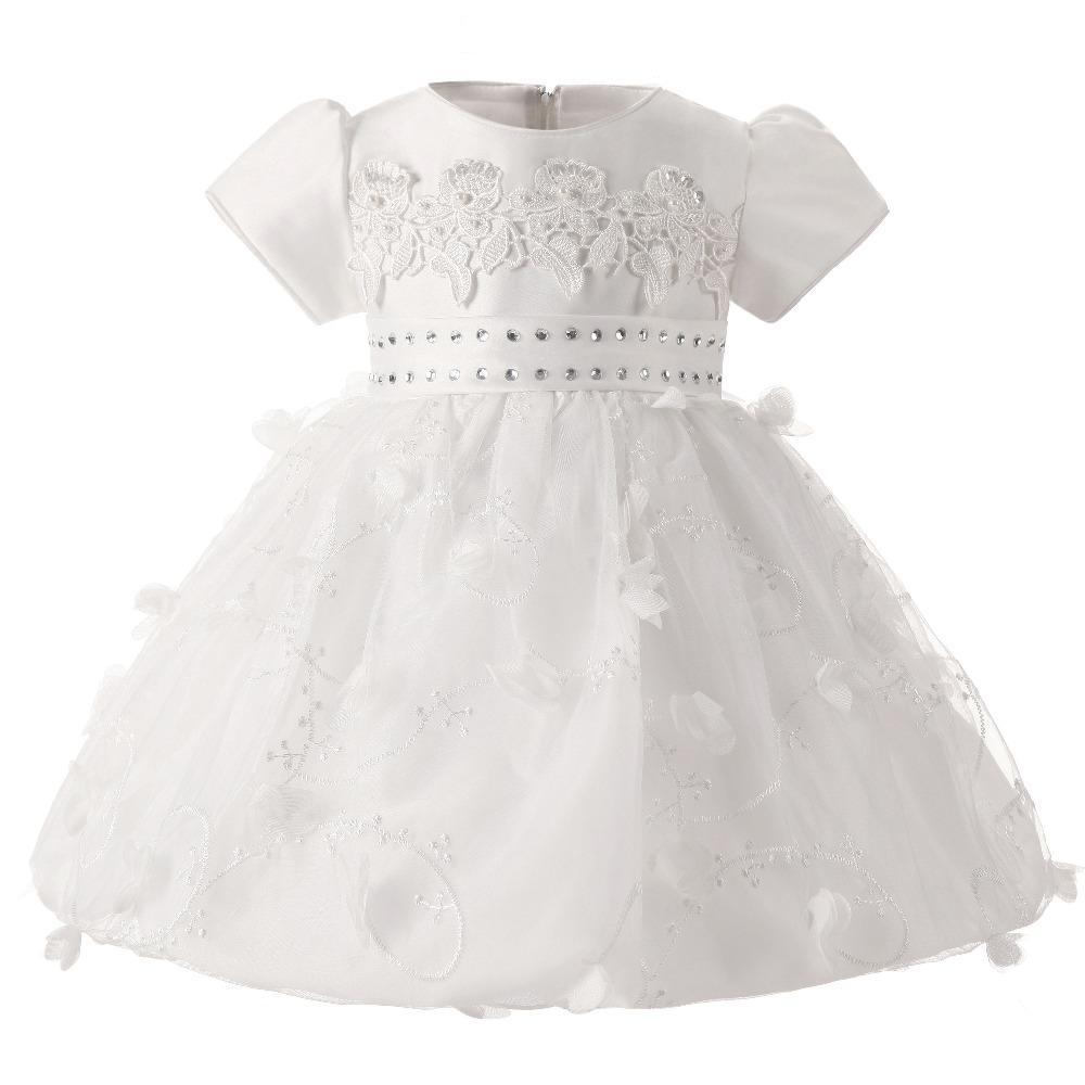 Großhandel Großhandel Taufe Prinzessin Baby Mädchen Kleid Hochzeit 1 ...