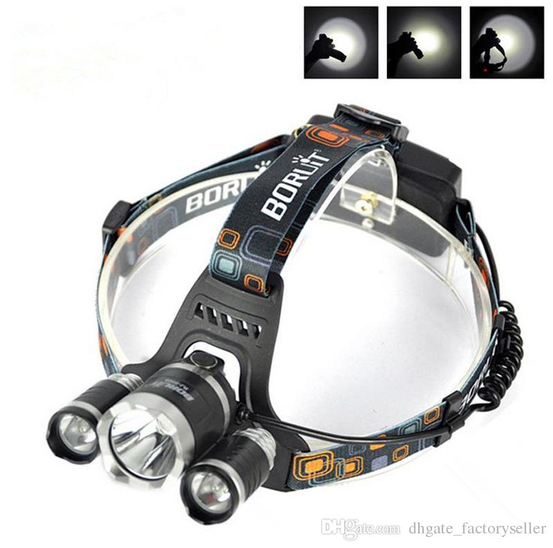5000LM 3X CREE XML T6 LED Headlamp Headlight 4 Mode Head Lamp +AC Charger +2*Rechargeable 18650 battery for bicycle bike light outdoor Sport