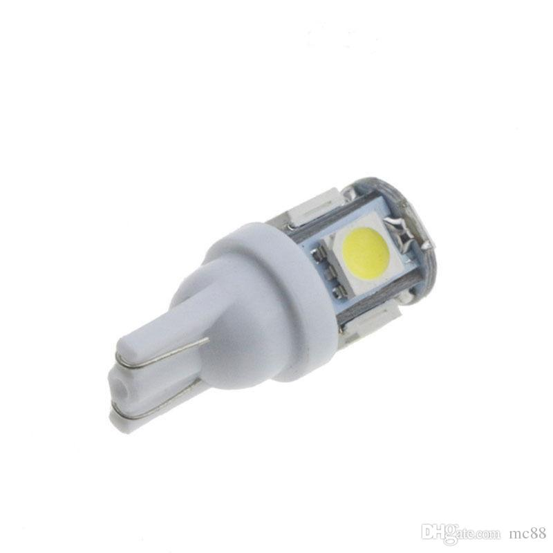 50 x 높은 밝기 12V 5050 5 SMD LED T10 5SMD 168 194 자동차 회전 신호면 내부 대시 보드 벌브 라이트