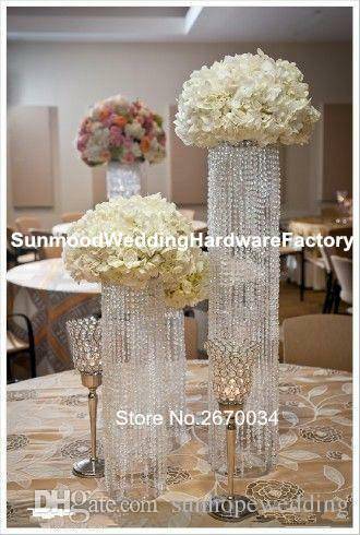 for big event decoration high quality crystal wedding aisle decor centerpieces for weddings