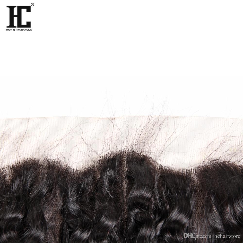 Ear To Ear 13x4 Lace Frontal Closures With 3 Bundles Brazilian Peruvian Indian Malaysian Deep Wave Curly Virgin Human Hair Weaves 8A Grade
