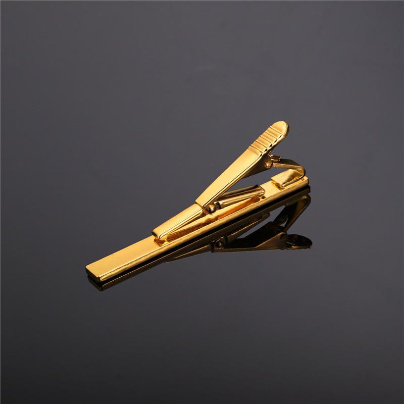U7 pince à cravate ensemble classique style simple or / or rose / noir / couleur argent mâle cravate business clip fermoir hommes bijoux TC01