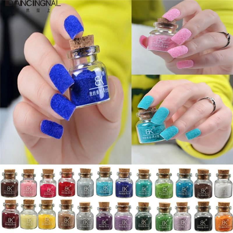 Wholesale Pro Fashion Nail Art Polish Velvet Flocking Dust Powder ...
