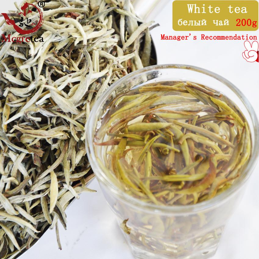 [Mcgretea] New Super Grade 200g Silver Needle, Taimushan Mountain White Tea, Baihao Yingzhen Conquer blood pressure Green Food