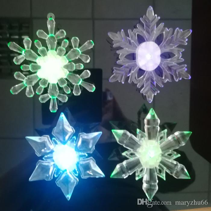 suction light design acrylic product christmas ornament factory big snowflake decor low decorations decoration led price window mixed sales hot