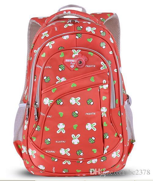 Lovely Cartoon Rabbit Backpack Kids School Bag Double Zip Puller Design Exquisite Quality Choice