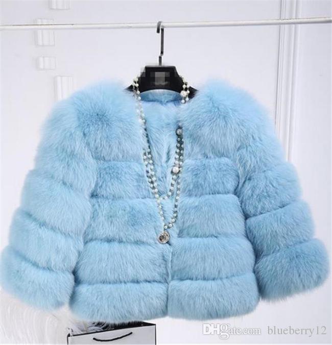 Buona qualità nuovo modo di lusso della pelliccia di Fox delle donne della maglia corta giacca invernale caldo cappotto Gilet colori Varietà la scelta