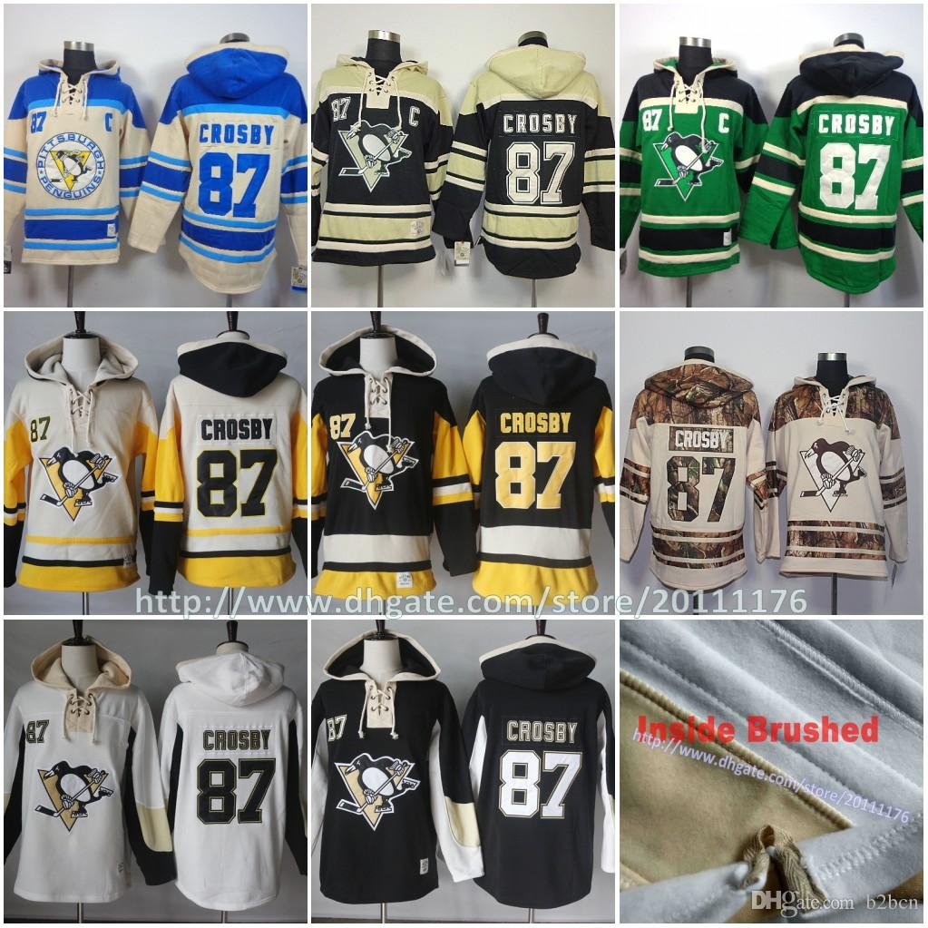 super popular 6d153 9d62c #87 Sidney Crosby Ice Hockey Hoodie Pittsburgh Penguins Men s Hockey  Hoodies Sweatshirt Old Time Hockey Hoodies