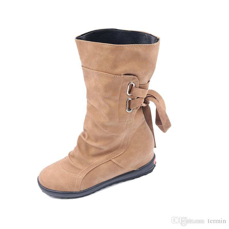 04ecb002d Large Size Womens Shoes Belt Buckle In The Boots After The Tie Flat With  Boots Female. XZ 062 Snowboard Boots Rubber Boots From Termin, $27.68|  DHgate.Com