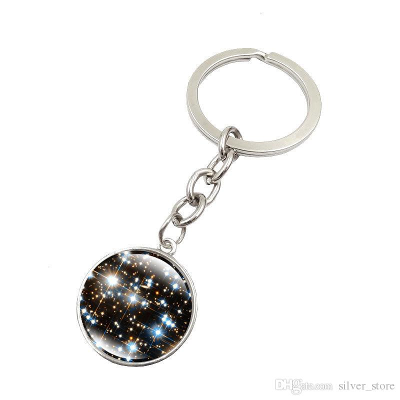 New arrival Explosive Galaxy Star Time Gemstone Keychain Pendant Key Chain KR146 Keychains a