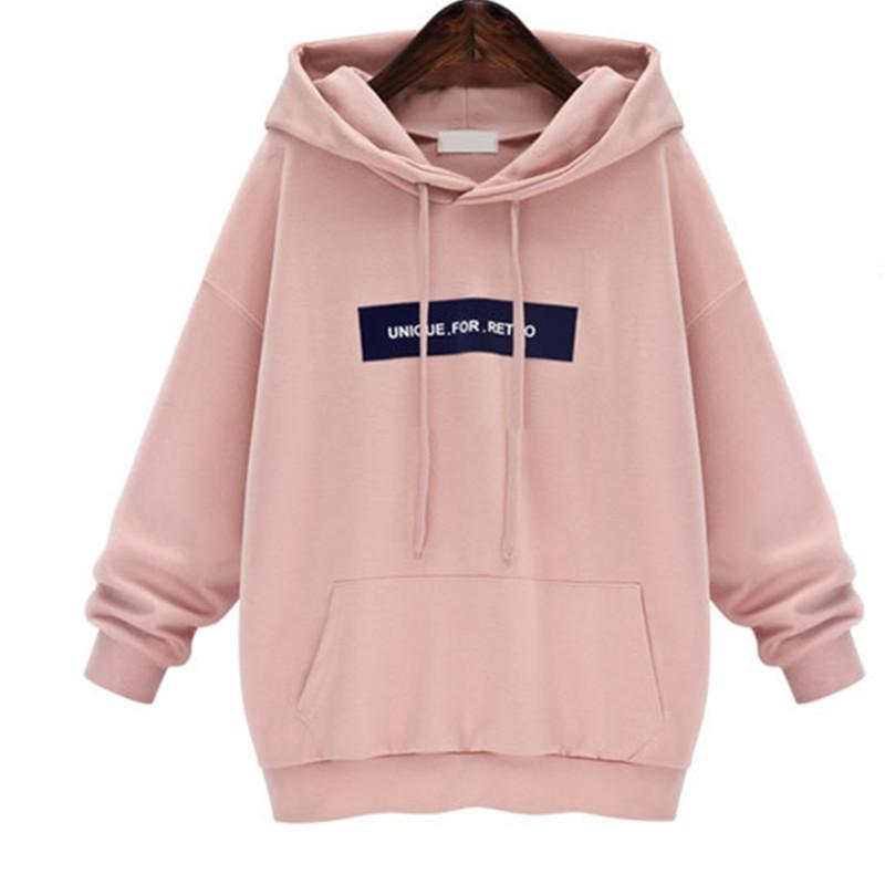 Wholesale- 2016 Brand New Lady Hoodies Sweatshirt Fashion Women Casual Harajuku Pocket Design Hoodie pullover Plus Size XL-5XL Female Tops