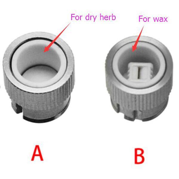 E HERB Vaporizer 2 in 1 for dry Herb Wax vape rda atomizer fit box mod mechanical mod ceramic donut atomizer wax kiln Free Ship