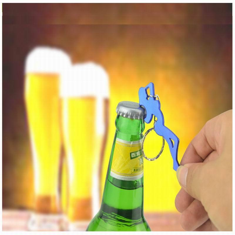DUNFA Beautiful Girl Aluminum Alloy Metal Creative Funny Cool Bottle Opener Wine Beer Keychain